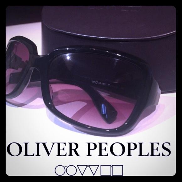 Oliver Peoples Black/Rose Sunglasses